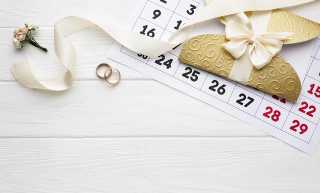 calendrier de mariage