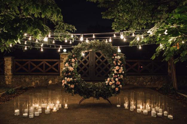 éclairage pour mariage