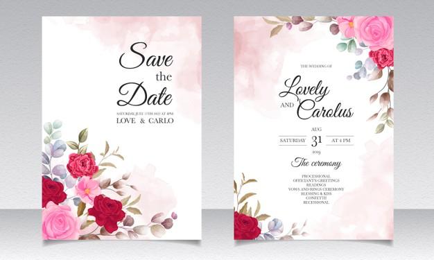invitation de mariage en acrylique