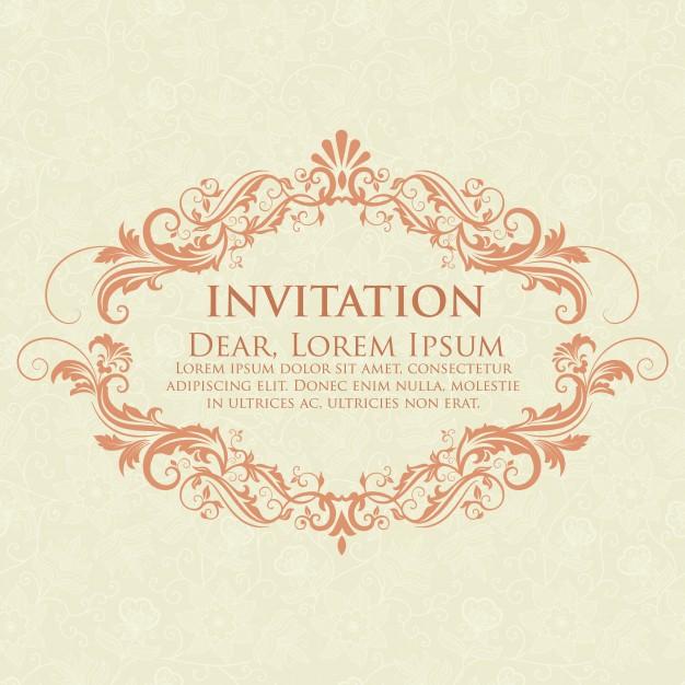 lettre d'invitation de mariage